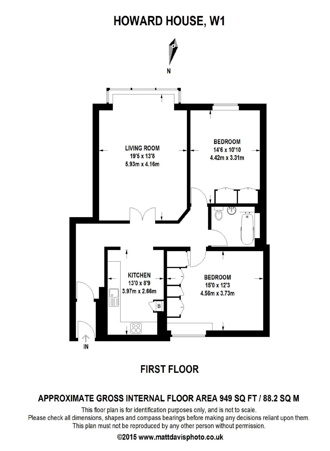 Floor Plan of Moxon Street, London, W1U