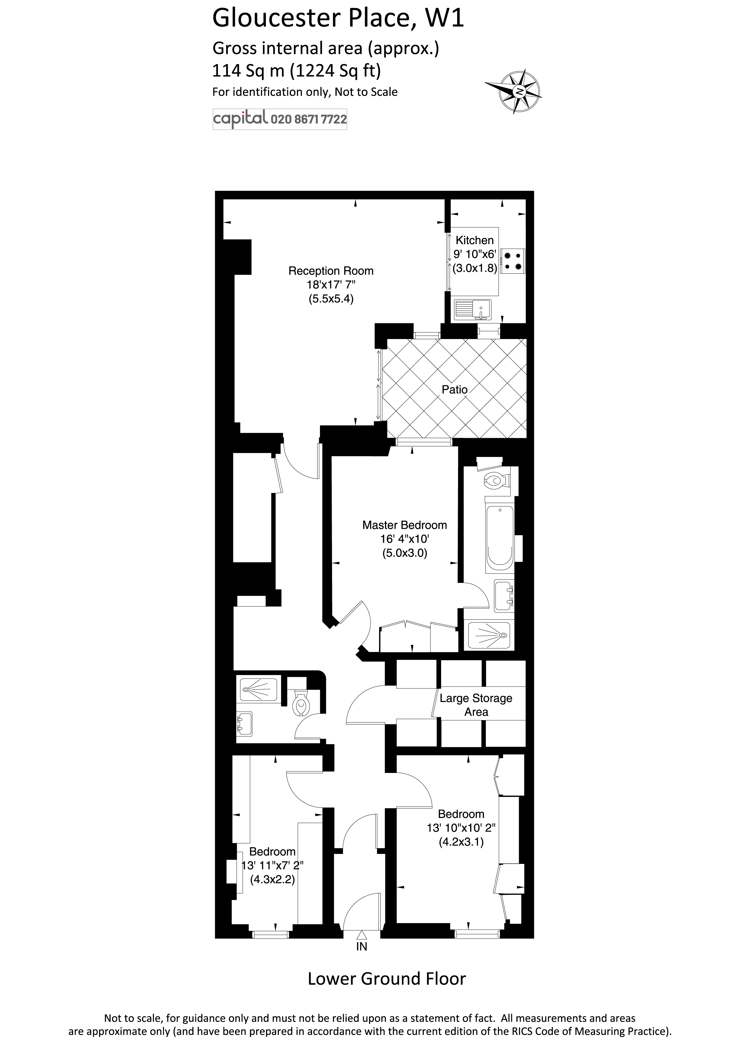 Floor Plan of Gloucester Place, London, W1U